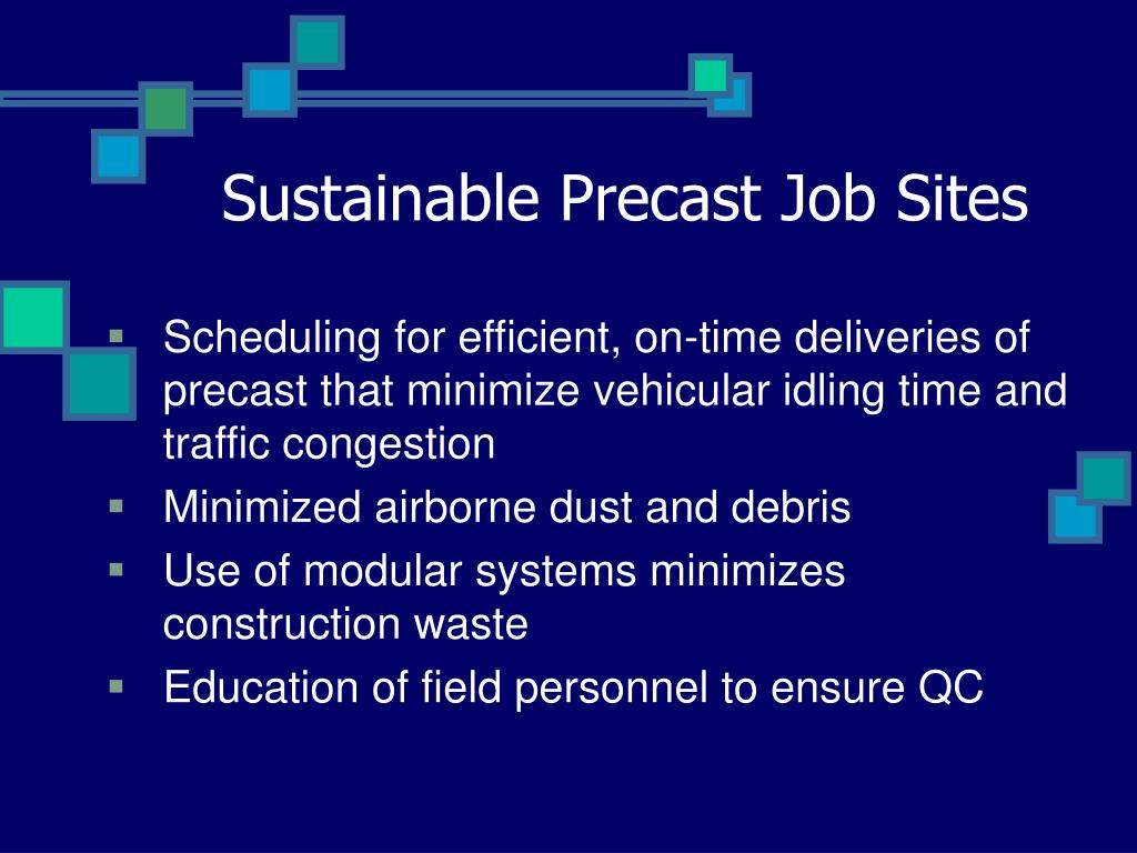 Sustainable Precast Job Sites