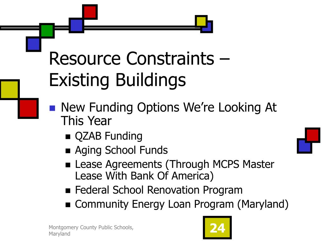 Resource Constraints – Existing Buildings