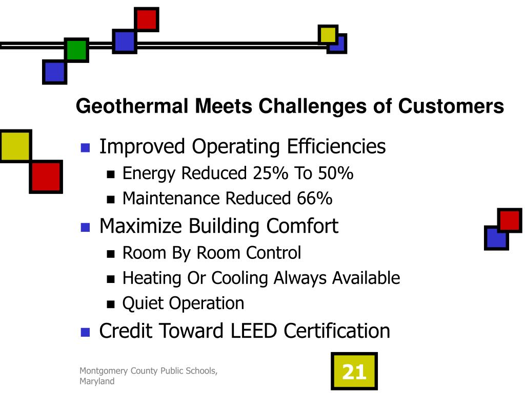 Geothermal Meets Challenges of Customers
