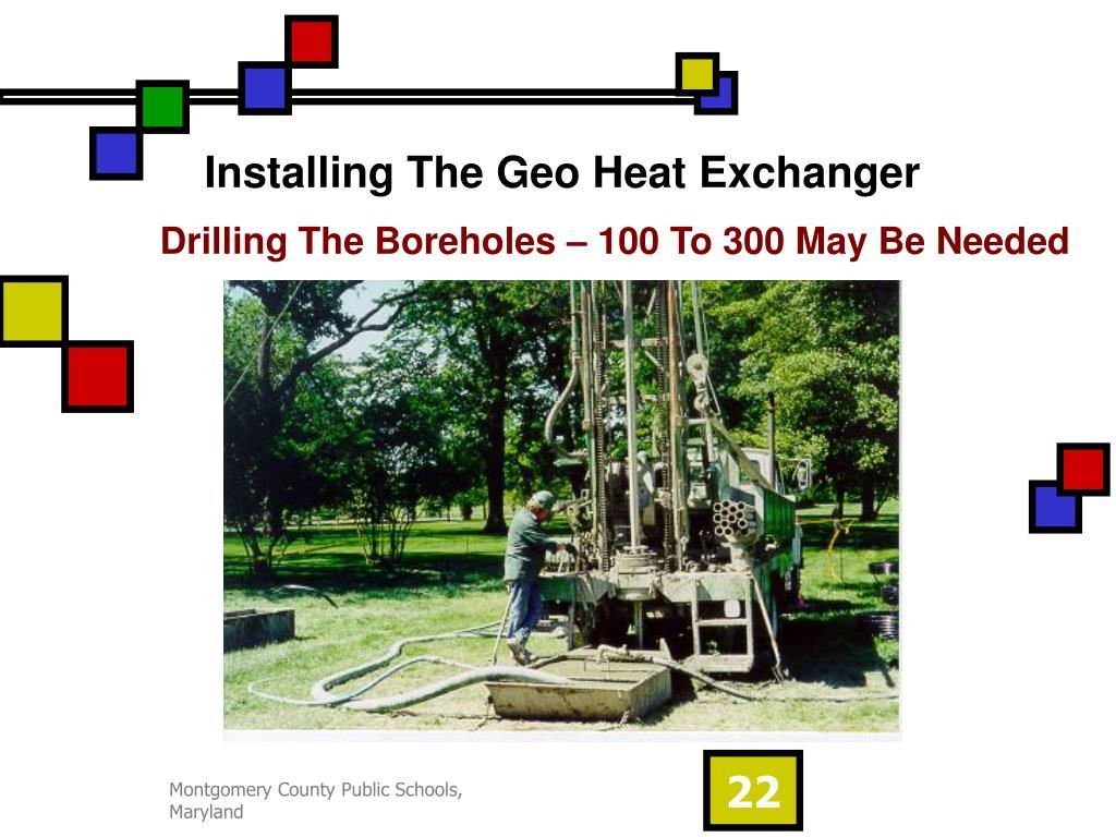 Installing The Geo Heat Exchanger
