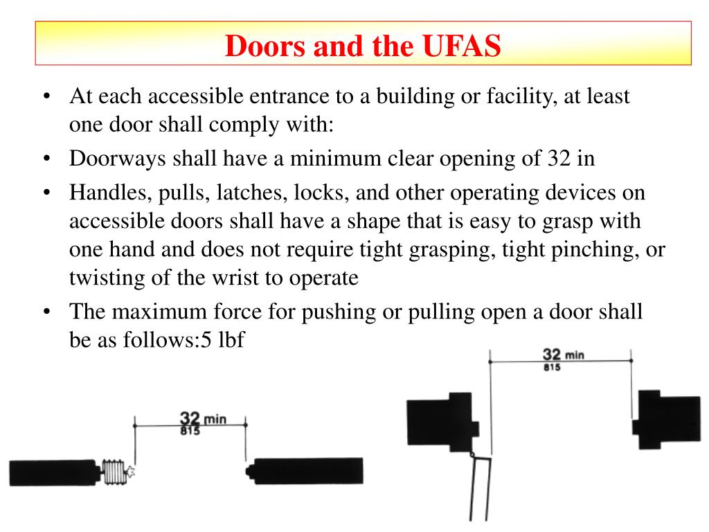 Doors and the UFAS