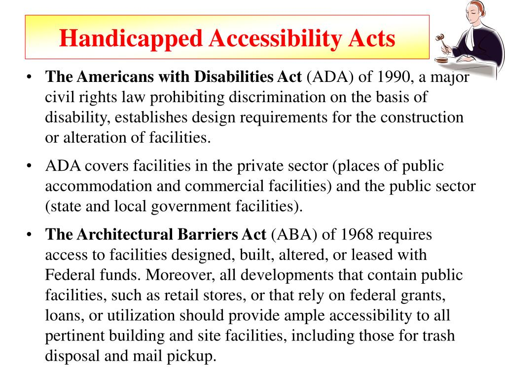 Handicapped Accessibility Acts