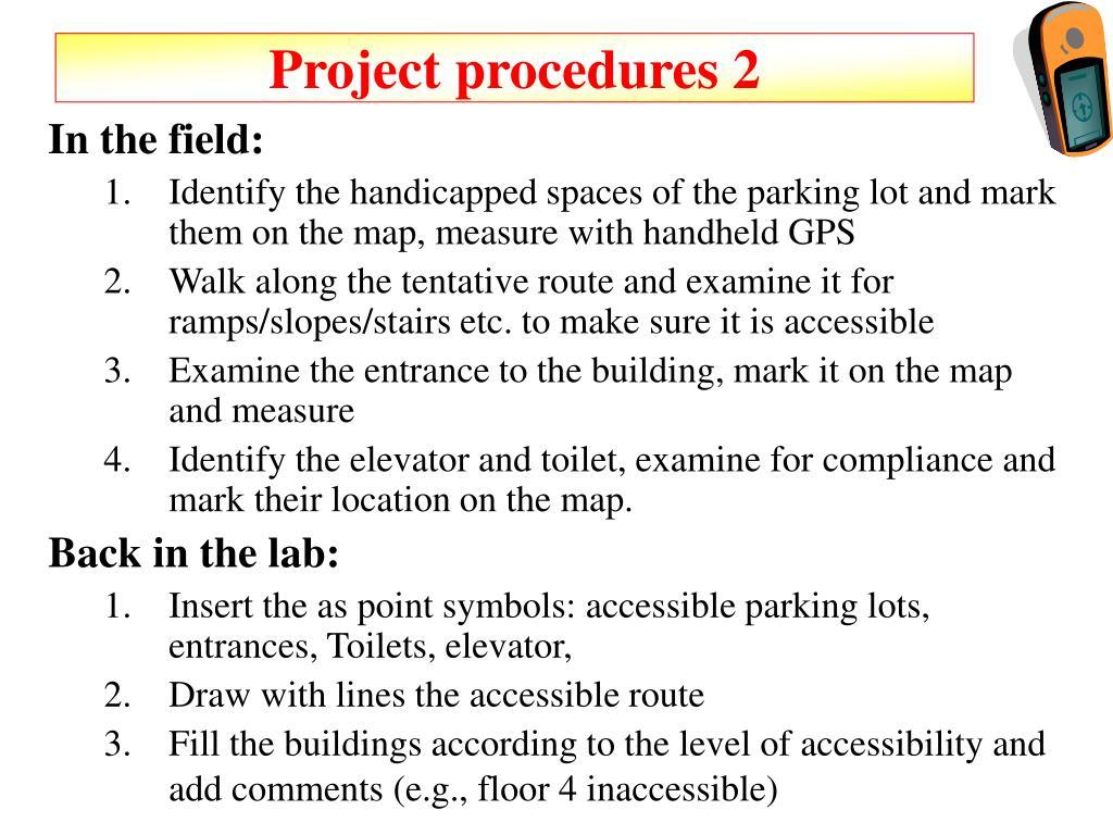 Project procedures 2