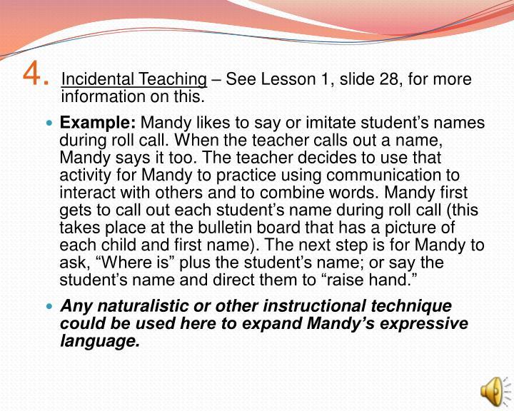Incidental Teaching