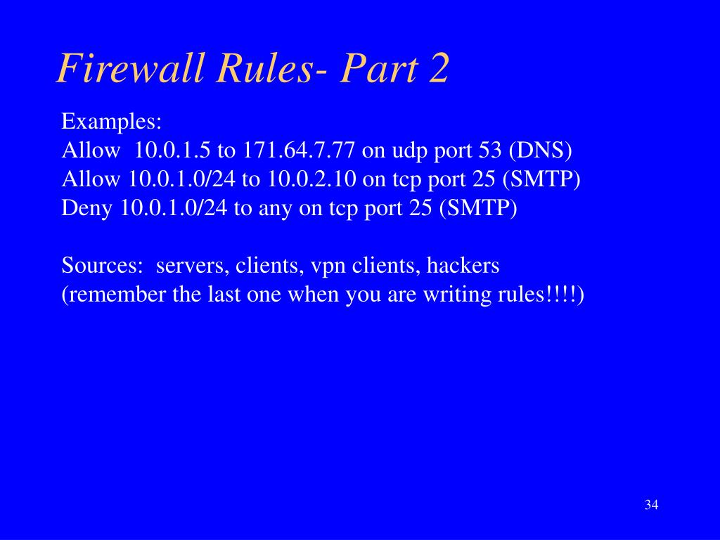 Firewall Rules- Part 2