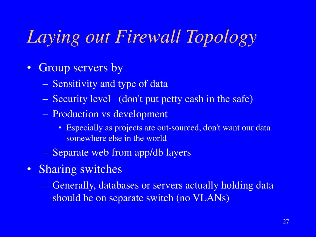 Laying out Firewall Topology