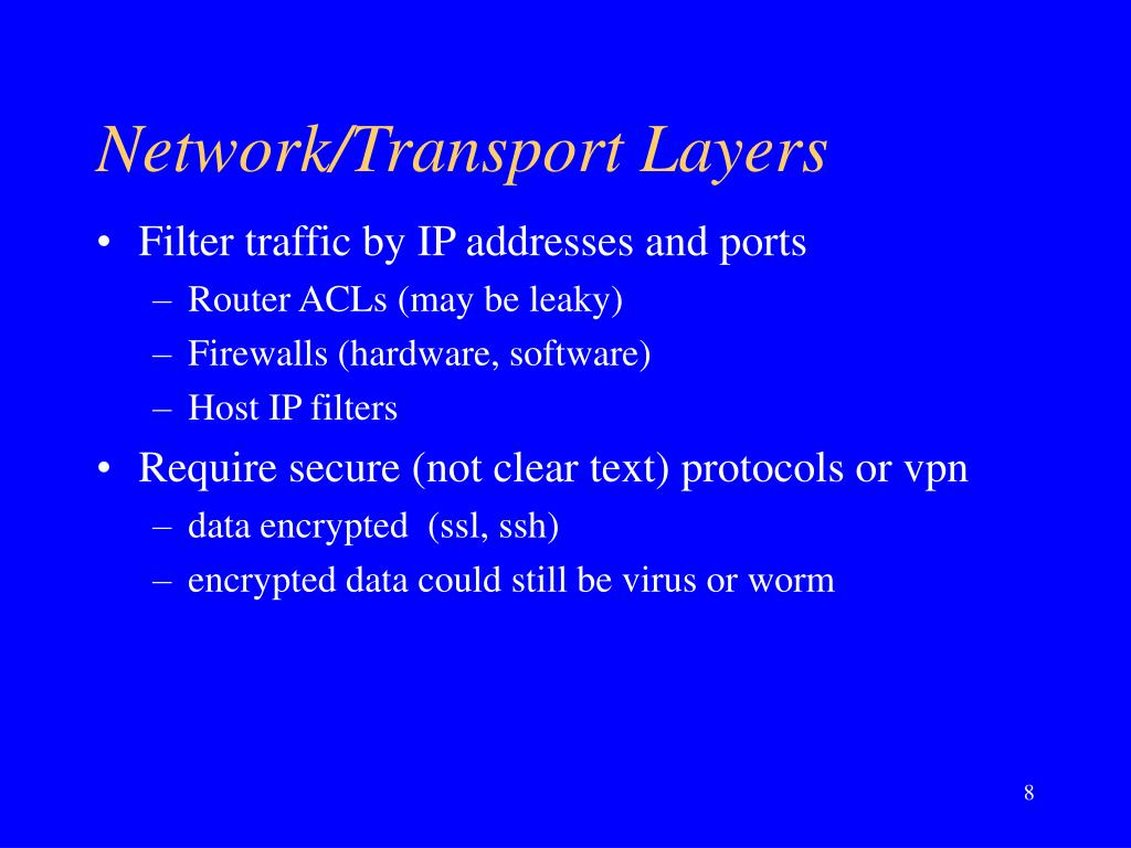 Network/Transport Layers