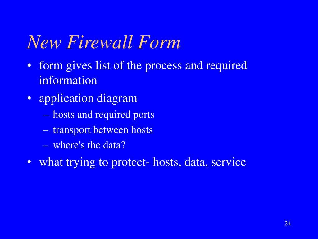 New Firewall Form