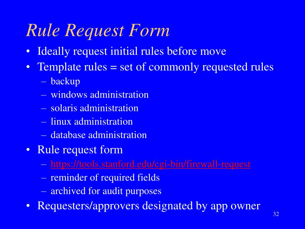 Rule Request Form