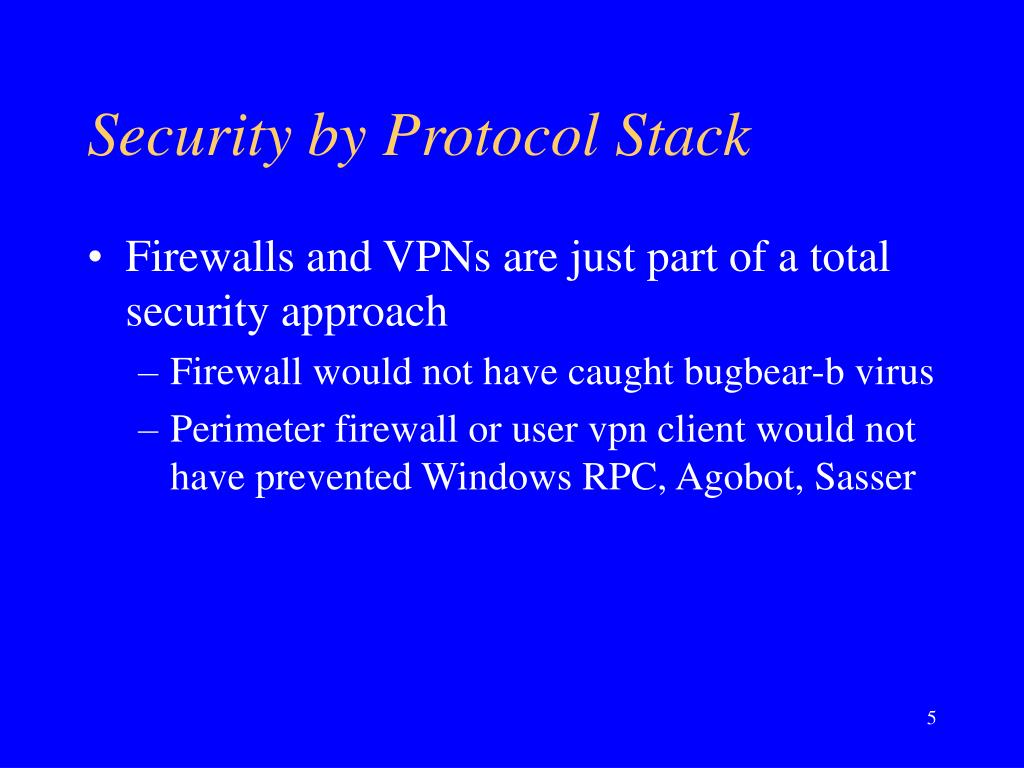 Security by Protocol Stack