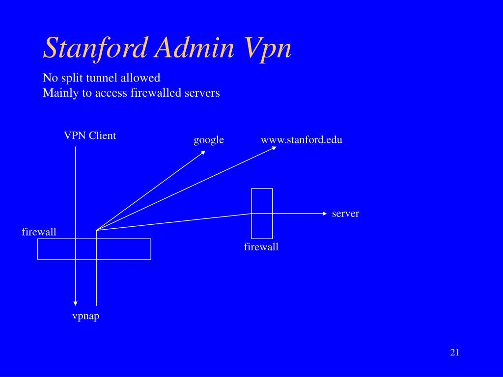 Stanford Admin Vpn