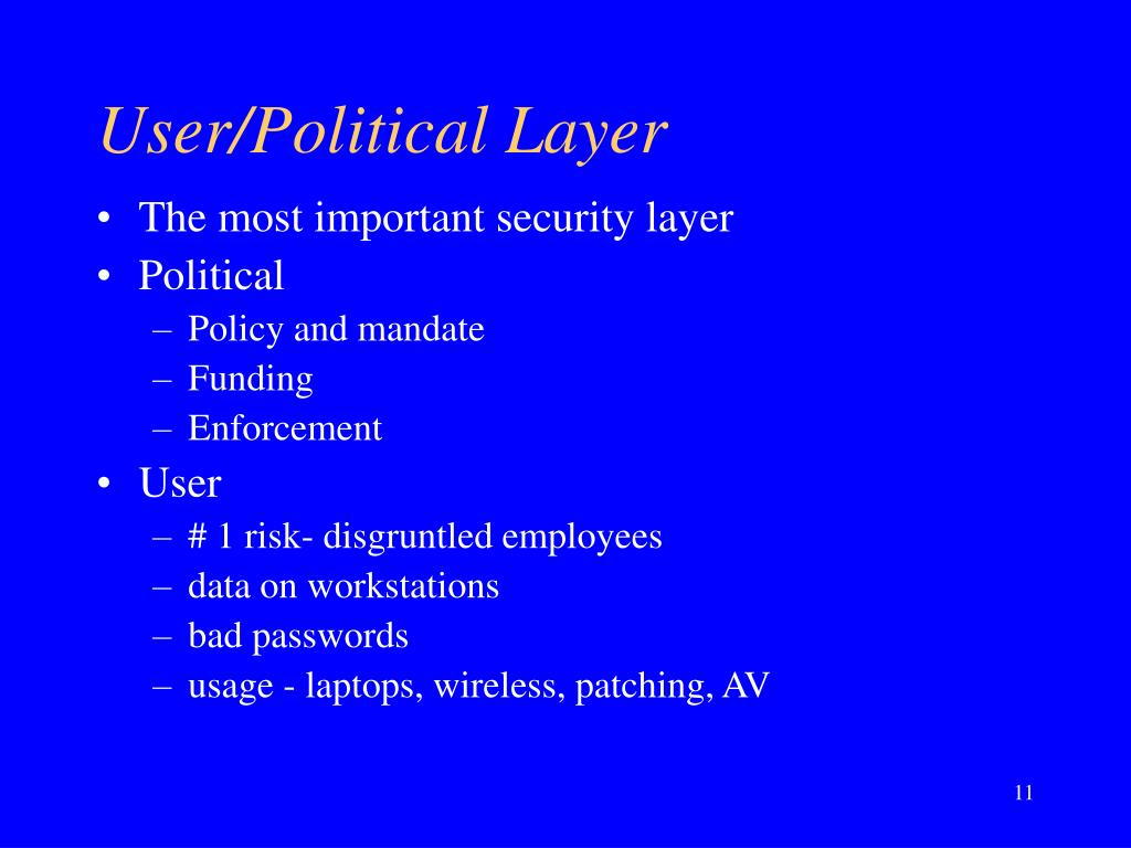 User/Political Layer