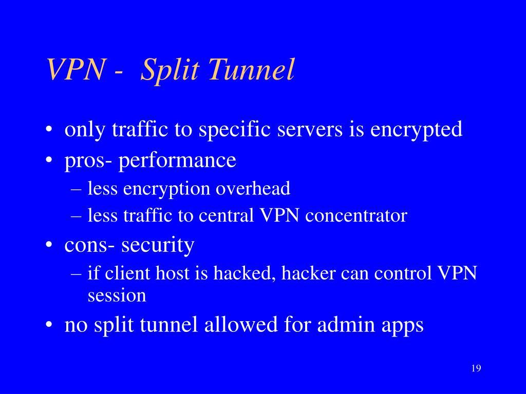 VPN -  Split Tunnel