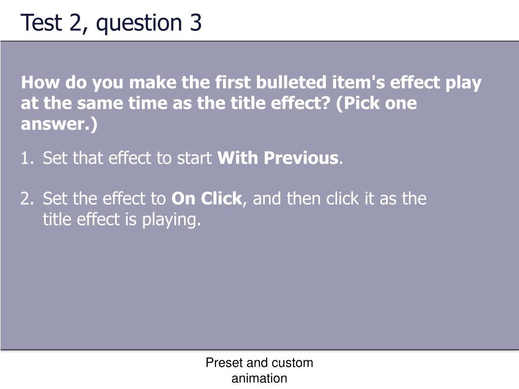 Test 2, question 3
