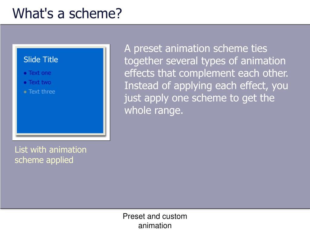 What's a scheme?
