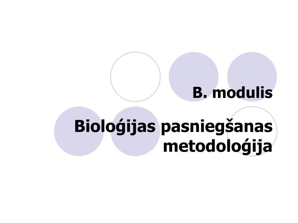 B. modulis