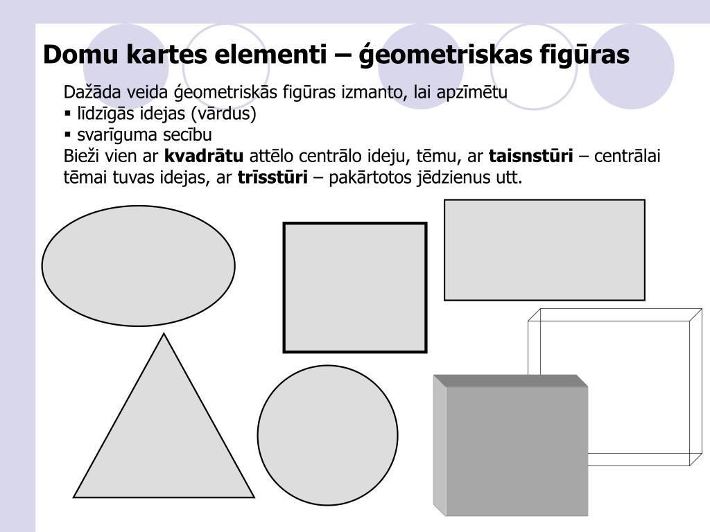 Domu kartes elementi – ģeometriskas figūras