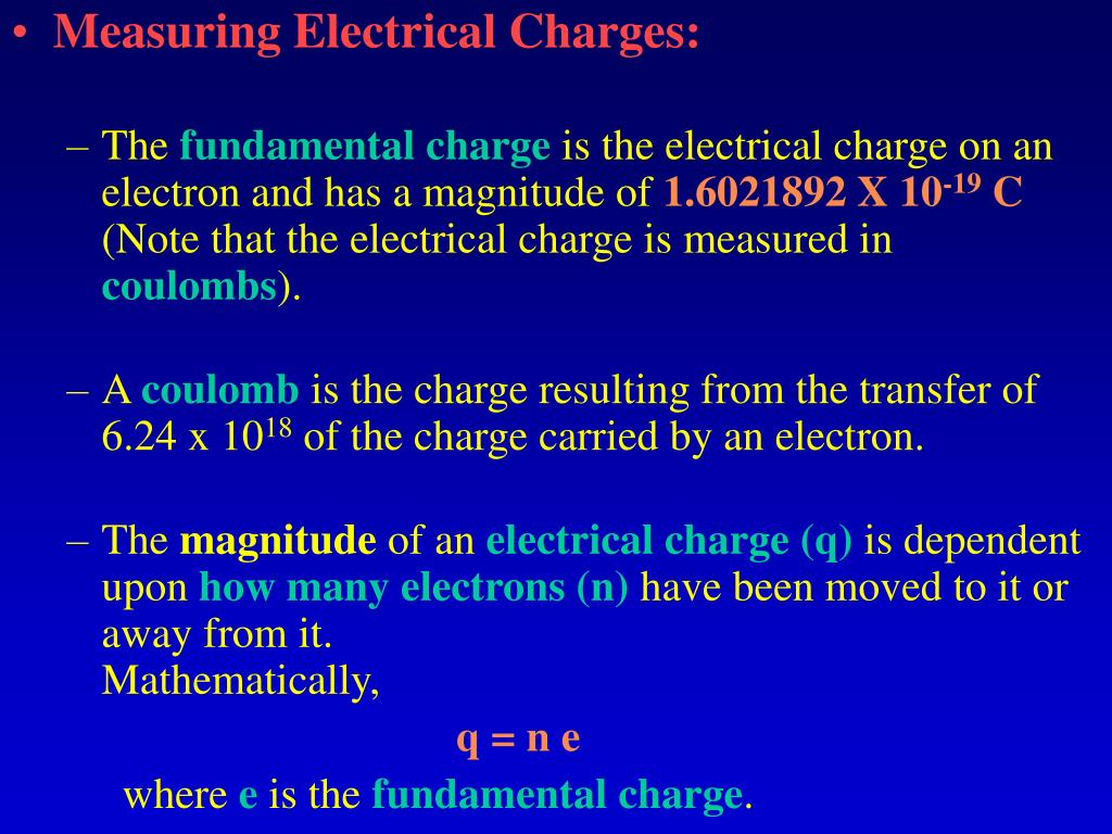 Measuring Electrical Charges:
