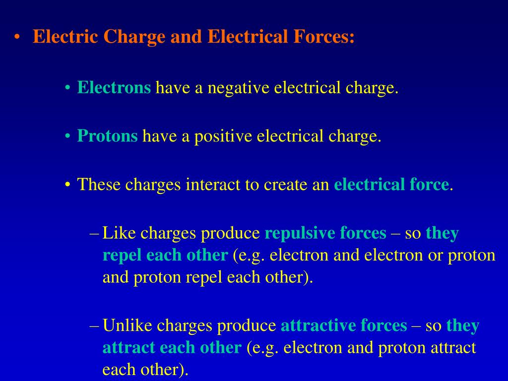 Electric Charge and Electrical Forces: