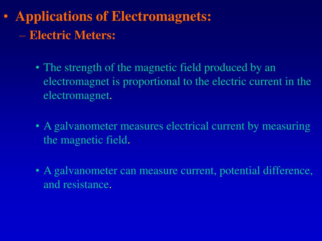 Applications of Electromagnets: