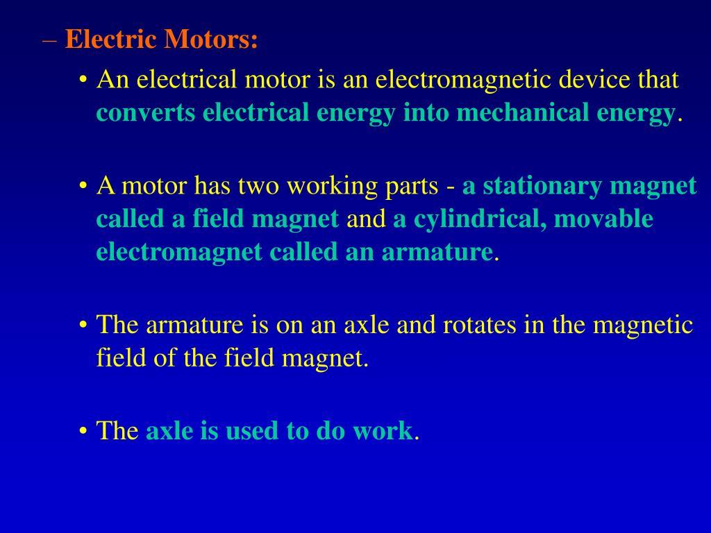 Electric Motors: