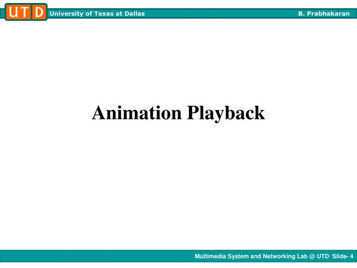 Animation Playback