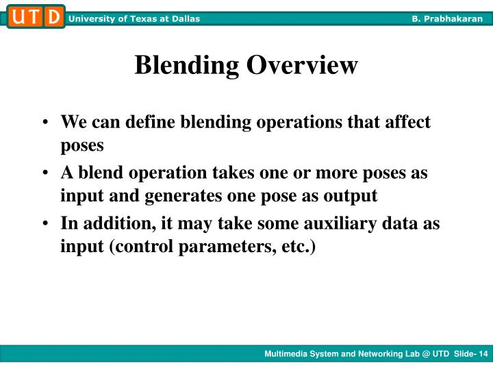 Blending Overview