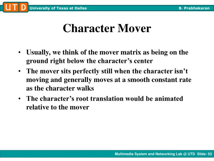 Character Mover
