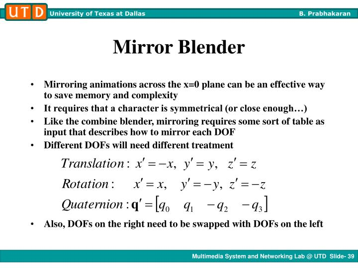 Mirror Blender