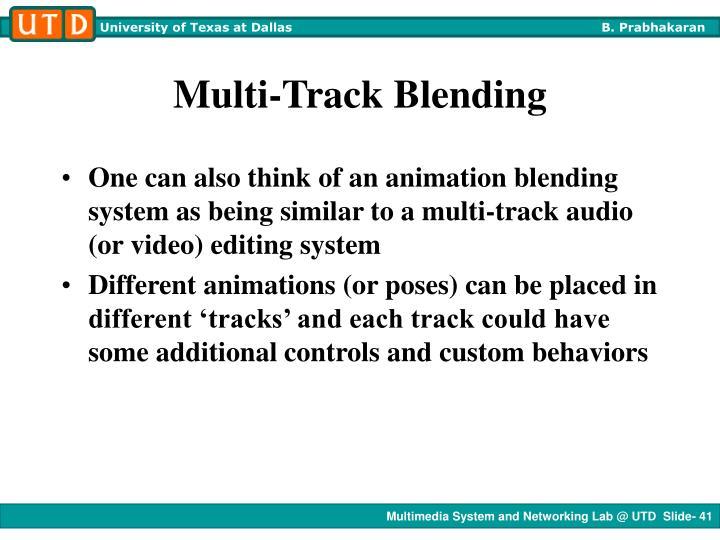 Multi-Track Blending