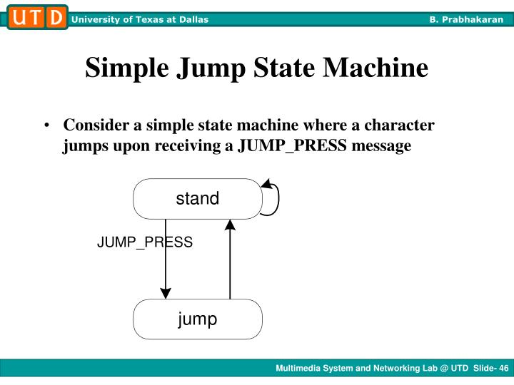 Simple Jump State Machine