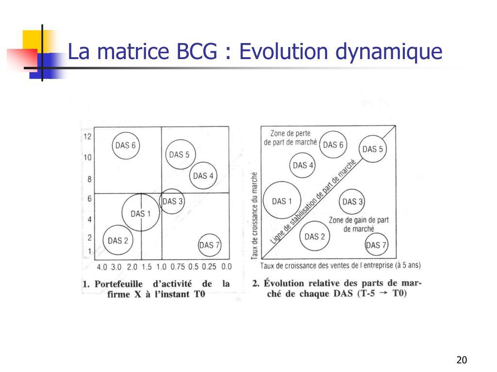 La matrice BCG : Evolution dynamique