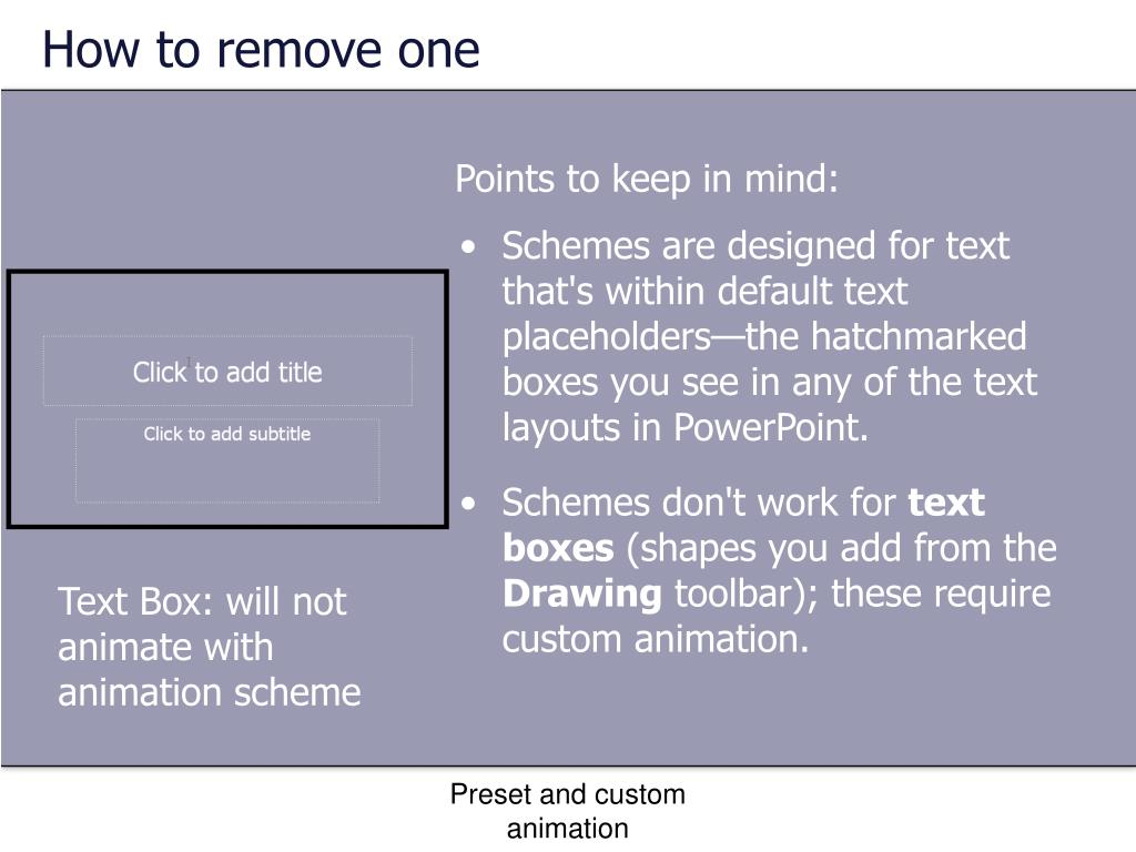 How to remove one