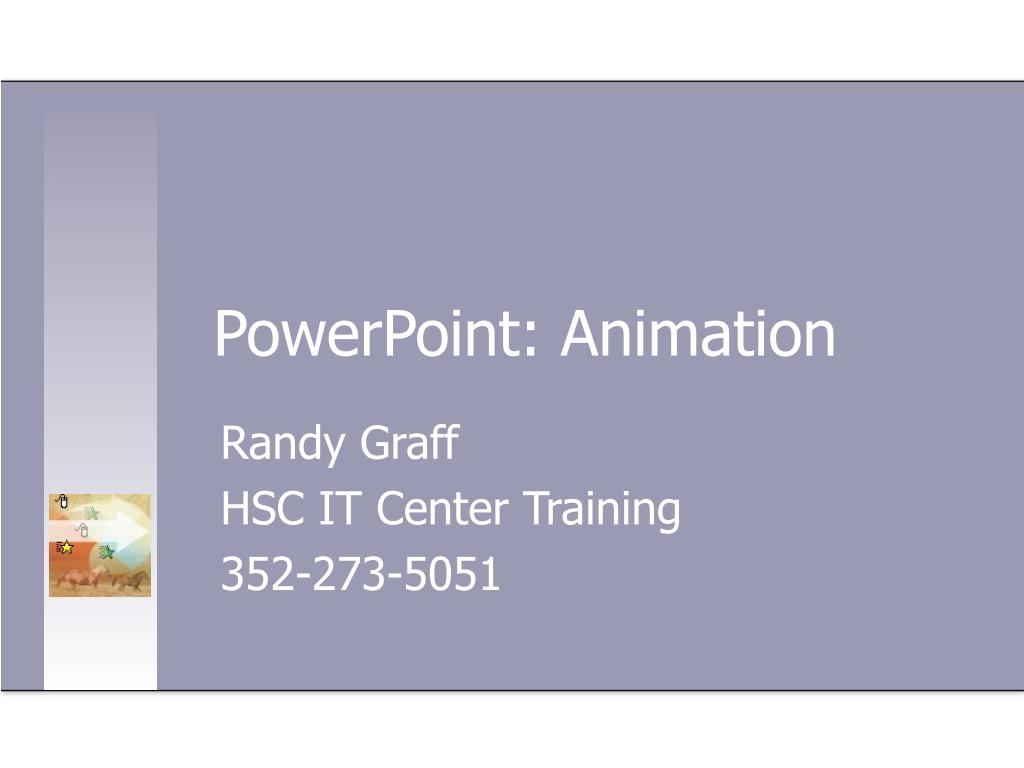 PowerPoint: Animation