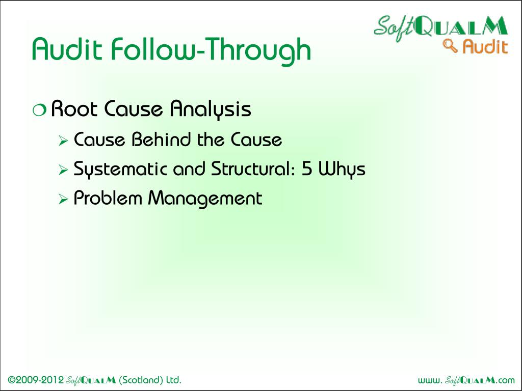 Audit Follow-Through