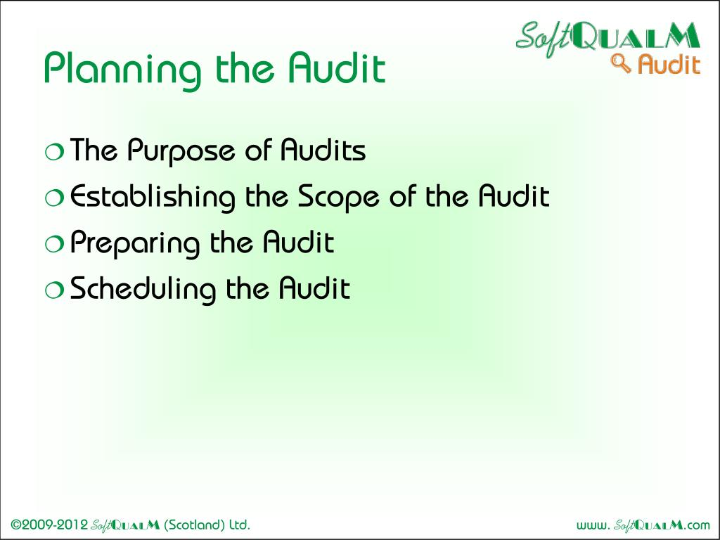 Planning the Audit