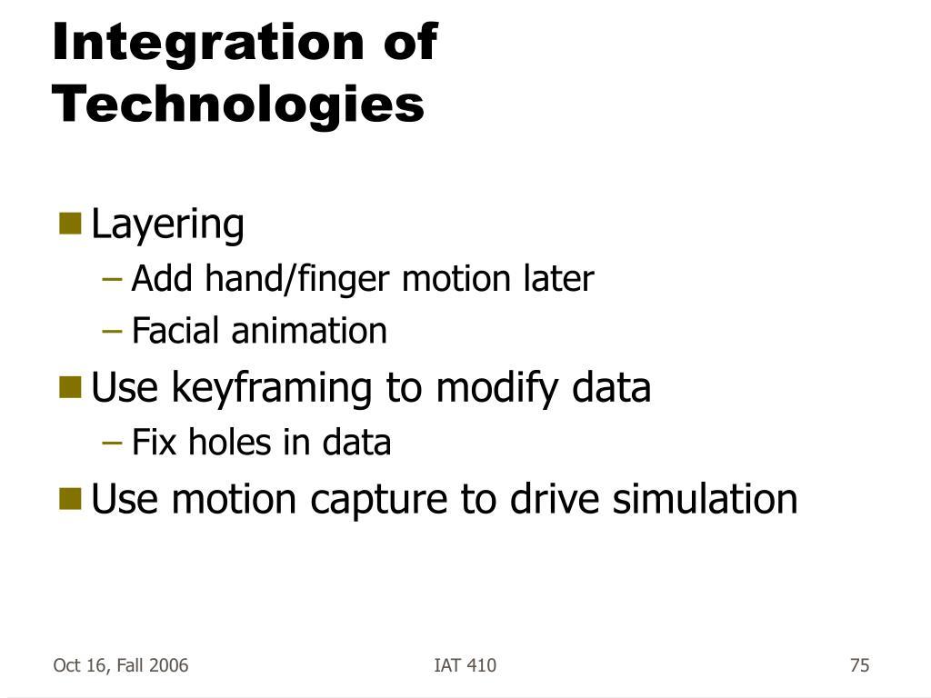 Integration of Technologies