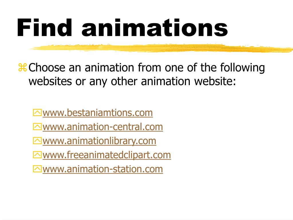 Find animations