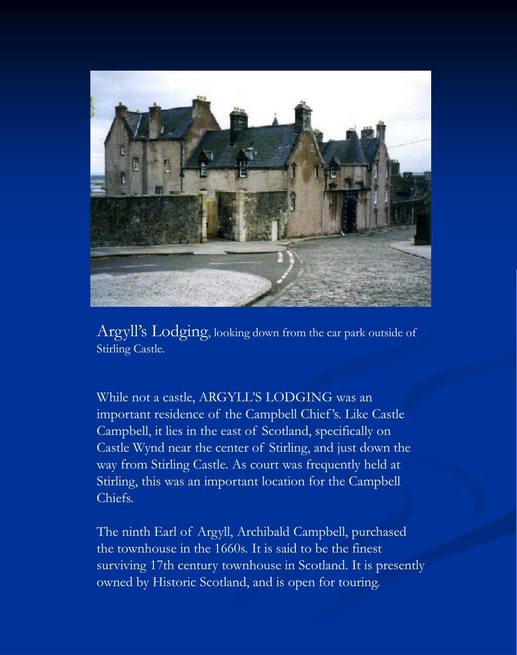 Argyll's Lodging