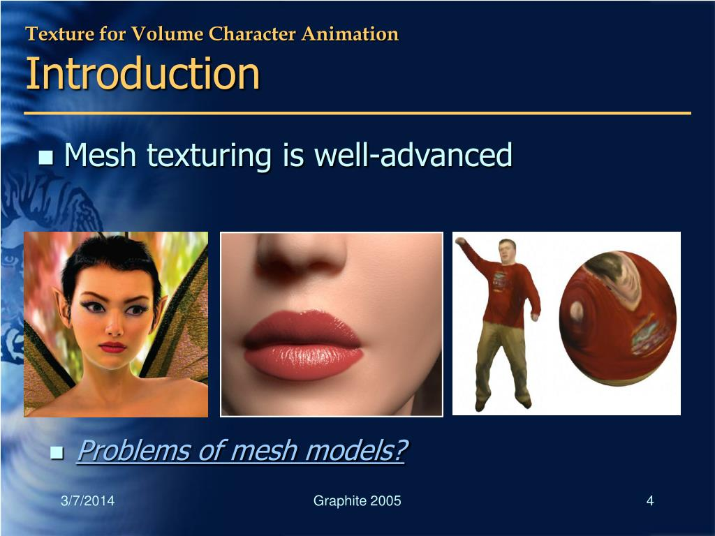 Texture for Volume Character Animation