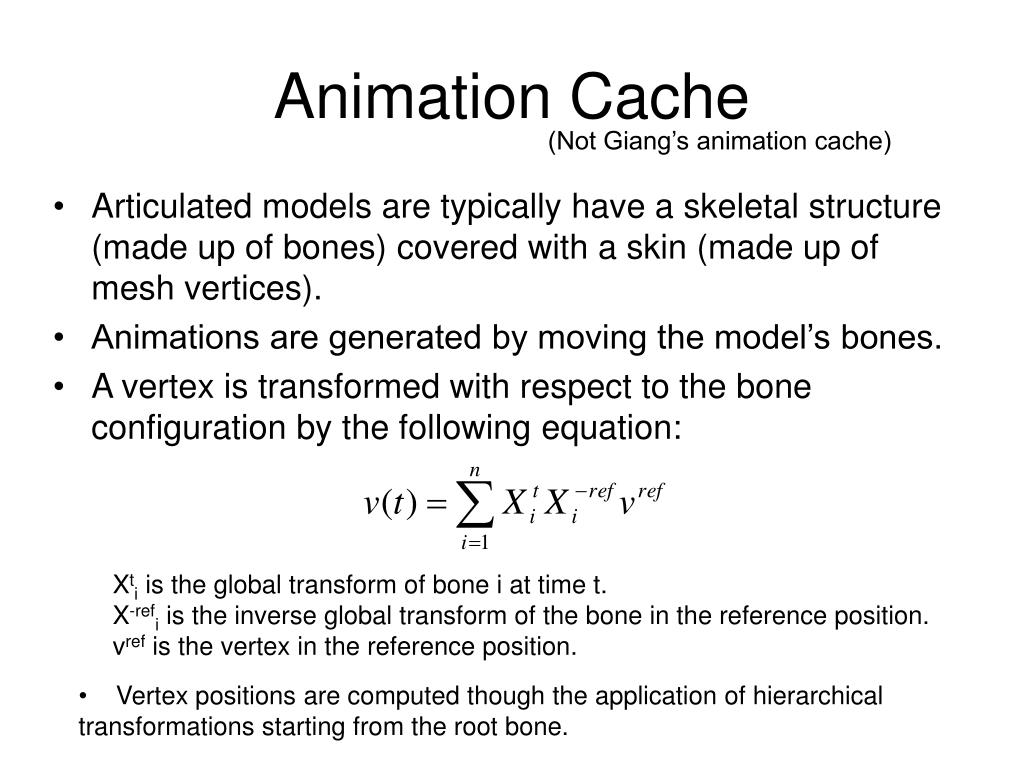 Animation Cache