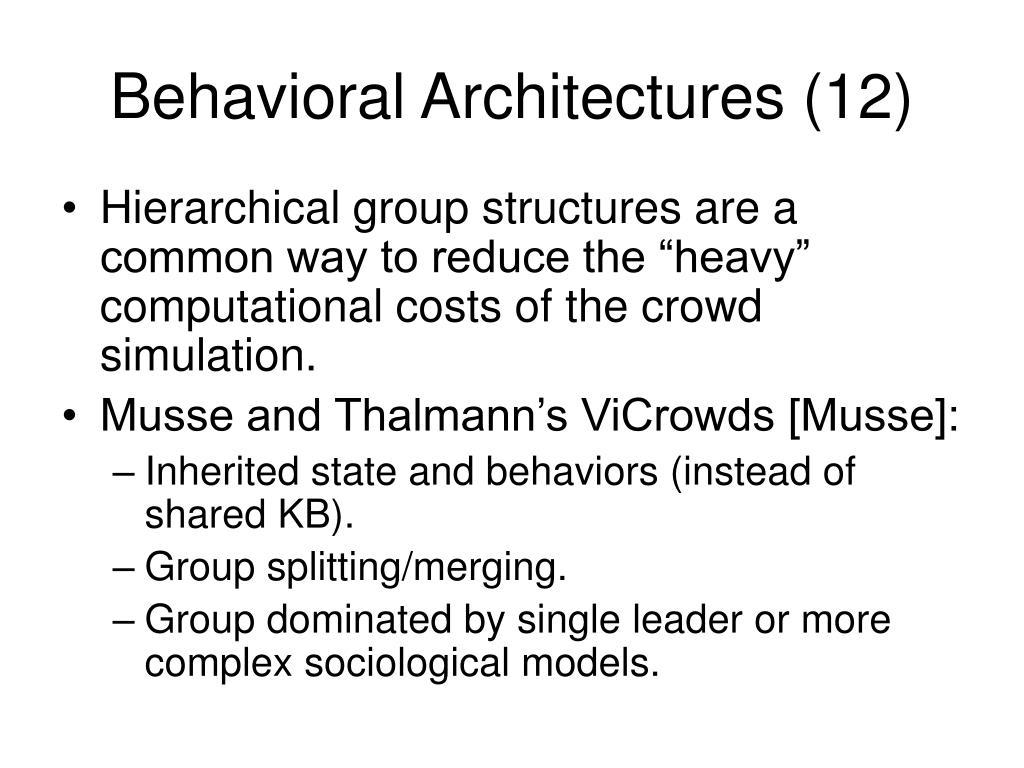 Behavioral Architectures (12)