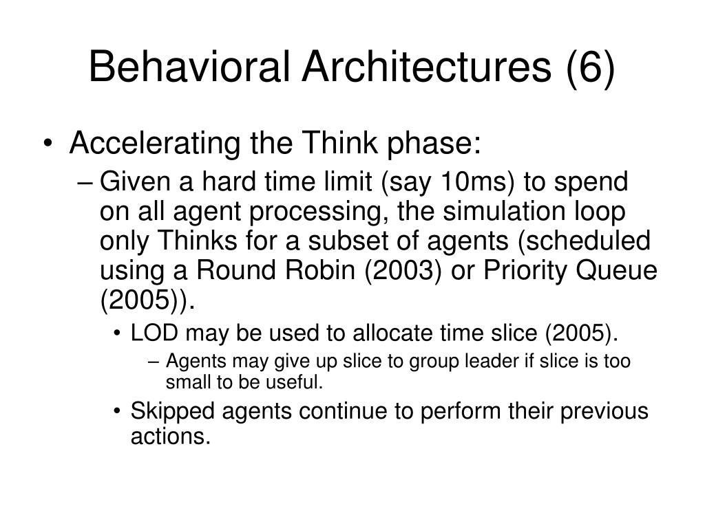 Behavioral Architectures (6)