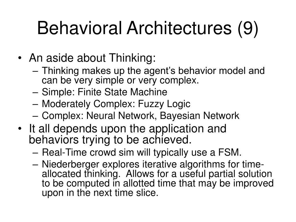 Behavioral Architectures (9)