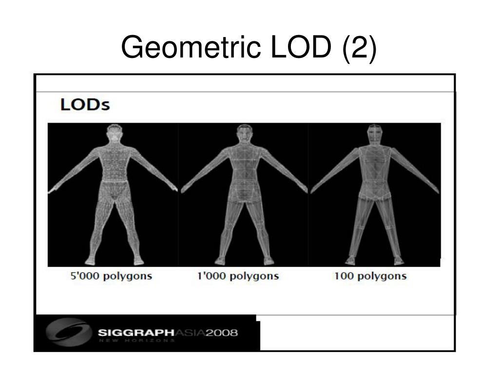 Geometric LOD (2)