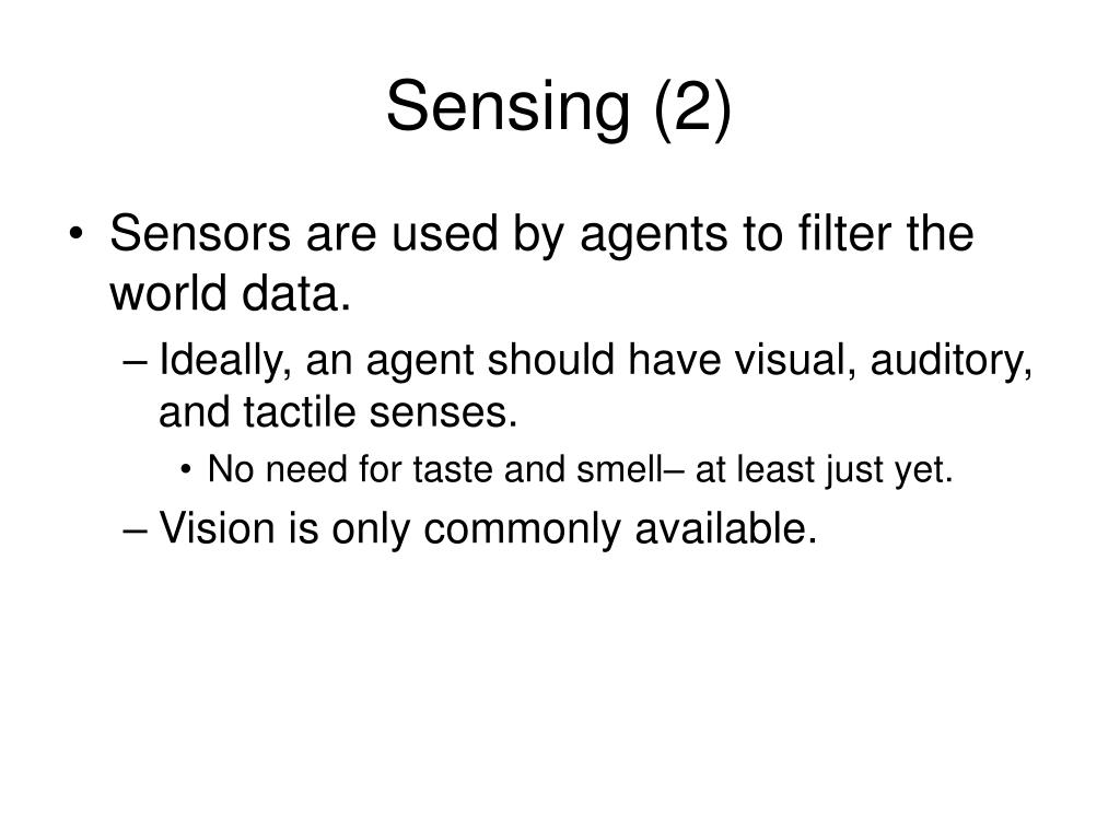 Sensing (2)