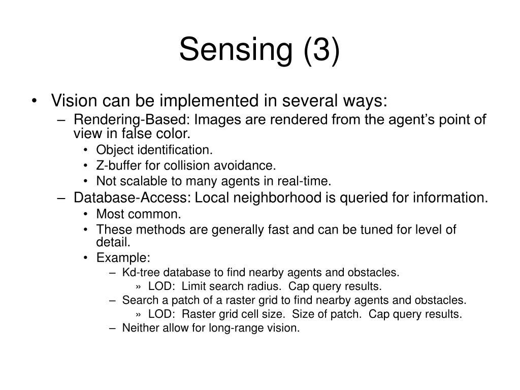 Sensing (3)