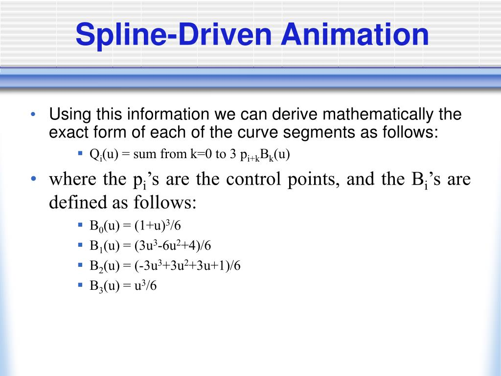 Spline-Driven Animation