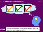 1 1 planning and implementation
