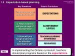 1 3 expectation based planning